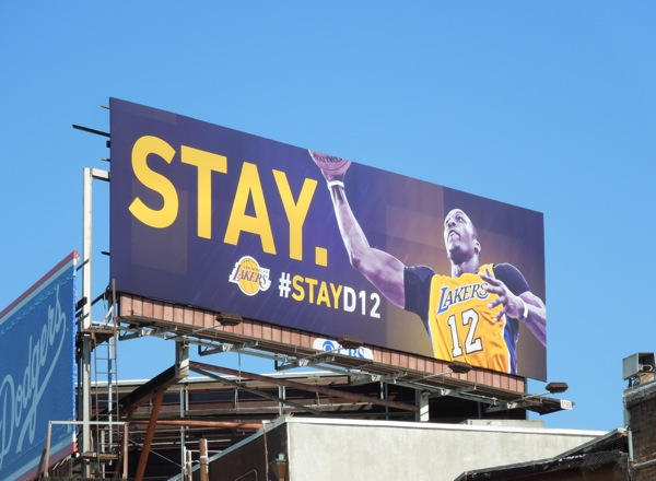 Stay D12 Lakers billboard
