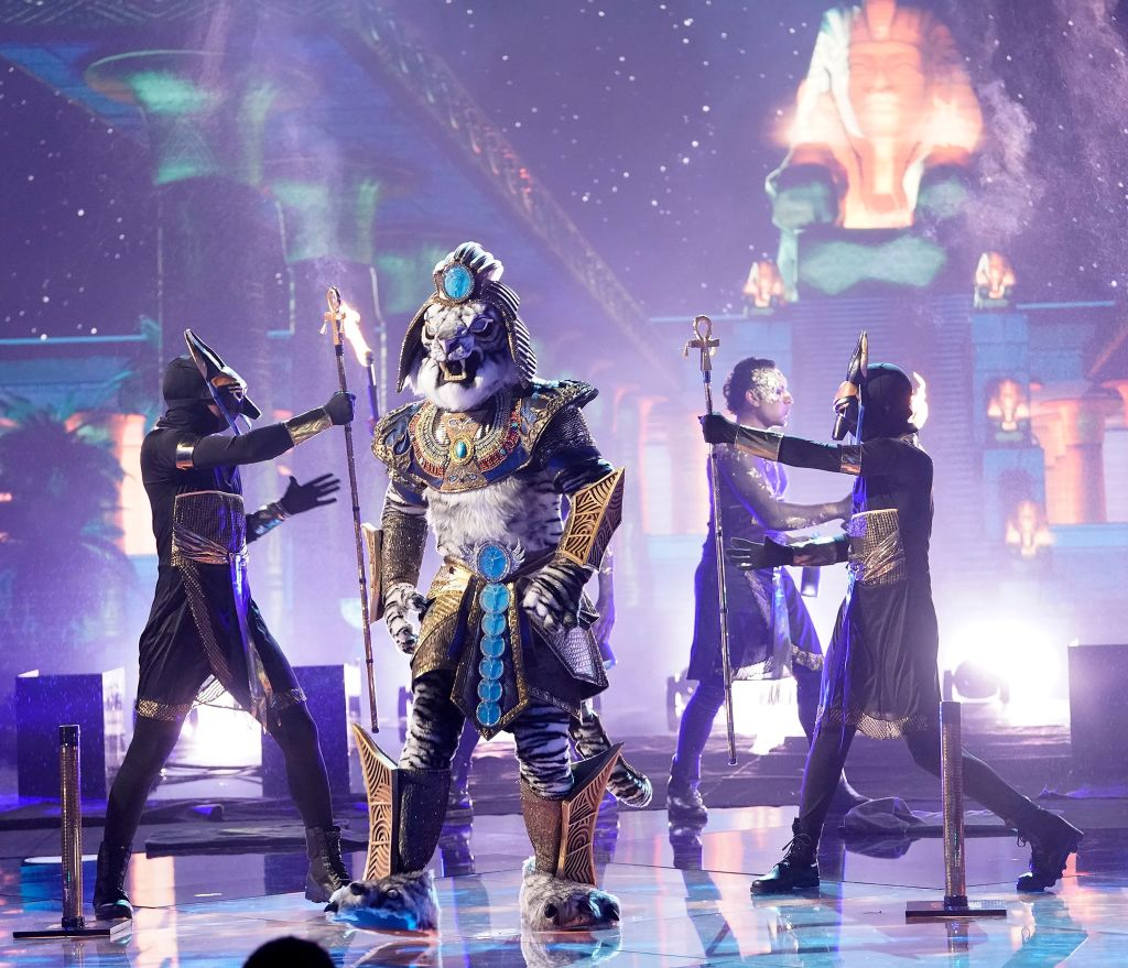 MASKED SINGER: The White Tiger in the Season Three premiere of THE MASKED SINGER airing Sunday, Feb. 2 (10:30-11:40 PM ET/7:30-8:40 PM PT live to all time zones) on FOX, following SUPER BOWL LIV. THE MASKED SINGER will then make its time period premiere on Wednesday, Feb. 5 (8:00-9:00 PM ET/PT). (Photo by FOX via Getty Images)